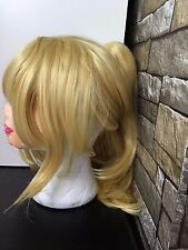 Blonde Clip Ponytail Wig Cosplay
