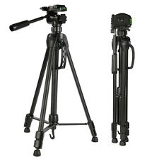 "Portable 60"" Camera Camcorder Tripod 3-way Head for Canon Nikon Sony Aluminum"
