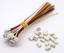 20 Sets Mini Micro Sh 1.0 Jst 4-Pin Connector Plug Male With 100mm Cable & Femal