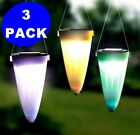 3-Pack Solar Powered Tree Hanging or Pathway Lawn LED Patio Lamp Light Sun power