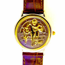 Fossil Leather Helmet Football Watch, Limited Edition, Unworn 0 Of 20K Only! $69