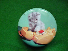 VINTAGE BLUE BIRD TOFFEE TIN KITTEN & TELEPHONE  HARRY VINCENT WORCESTERSHIRE