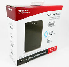 Toshiba HDTU110XKWC1 Canvio AeroCast 1TB Wireless USB 3.0 HDD PC Mac iOS Android