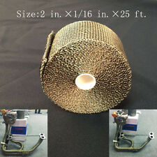 "Titanium Exhaust/Header Heat Wrap, 2"" x 25' Roll With Stainless Ties Kit New"