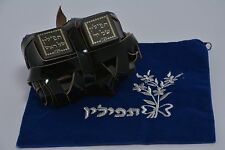100% Kosher Tefillin Pair of High Quality Tefilin Phylacteries with Free Bag