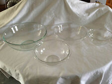 vintage pyrex set of 4 clear glass nesting mixing bowls