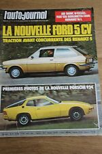 L'Auto-journal n°20 -1975 -FIAT 128 BERLINETTA-RENAULT 16-PORSCHE 924-FORD 5 CV