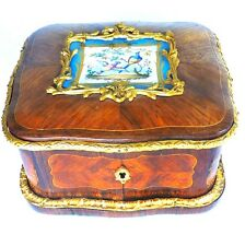 ANTIQUE FRENCH KINGSWOOD GILT BRONZE SEVRES PORCELAIN CASKET BOX ROCOCO EMPIRE
