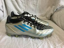 WOMEN'S ADIDAS F-50 SOCCER CLEATS- SILVER / BLUE ( SIZE 8 )
