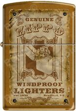 Zippo Genuine Zippo Vintage Windproof Lighter Bradford PA Poster Toffee NEW Rare