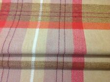 Made to measure roman blind Prestigious textiles red/gold Check fabric