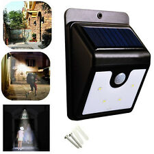 Ever Brite LED Solar Power Light Wireless Sensor Body Induction Lamp Home Bright