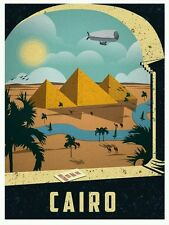 "Egypt Cairo Pyramids Vintage Travel Amazing Wall Silk Poster 24""X36""/60X90cm"