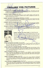 WORLD CUP SIGNATURES 66  BOBBY MOORE ALF RAMSEY GORDON BANKS +  MAURICE NORMAN