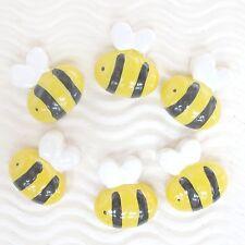 """US SELLER - 10 pcs x 3/4"""" Resin Honey Bees Beads/Flatback for Hair Bow/Clip SB99"""