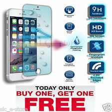 100% Genuine Tempered Glass Film Screen Protector for Apple iPhone 5, 5S & 5C