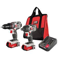 PORTER CABLE PCCK602L2 20V MAX Li-Ion 20 Volt Cordless Drill & Impact Driver Kit
