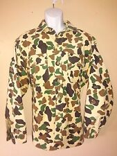 Vintage Woolrich Camouflage Duck Hunting Camo Mens Cotton Shirt Made in USA  XL