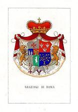 Araldica stemma araldico della famiglia Grazioli di Roma
