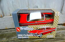 AMT PROSHOP 1958 RED PLYMOUTH BELVEDERE PRE-DECORATED 1:25TH SCALE PLASTIC MODEL