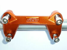 KTM 125 200 390 DUKE HANDLE BAR CLAMP MOUNT BARS HANDLE ORANGE NEW B12G