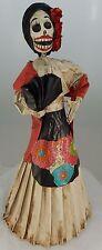 Catrina Mexican Doll Day of Dead Paper Mache Dia de los Muertos Folk Art 116L