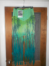 Ladies Jordash skirt green mix with netted trails, tie dye, goth, hippie, boho