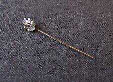 ANTIQUE ENAMELED SHIELD GOLDEN METAL STICK PIN