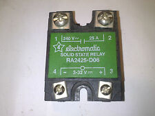 ELECTROMATIC SOLID STATE RELAY RA2425-D09  NO 25 A 3-32 V DC