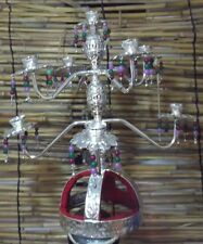Egyptian Belly Dance Silver Candelabra shemadan Candle holder Handmade 9 Candles