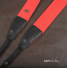 Bright Red Adjustable Strong Non-slip Cam-in DSLR Camera Strap CAM1213A UK Strap