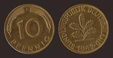 GERMANIA GERMANY 10 PFENNIG 1982 F