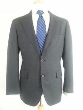 Brooks Brothers 346 Mens 2 Button Blazer Charcoal Gray Pinstripe Suit Jacket 38R