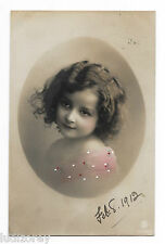 CPA A38 FILLETTE CHARMANTE ENFANT COIFFURE MODE SAUVAGEONNE CUTE LITTLE GIRL