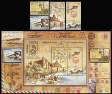 """INDI-USA-FRANCE Bloc + 4 valeurs """"INDIPEX 2011 - 100 Years of Airmail"""" 2011"""