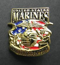 MARINE CORPS USMC MARINES THESE COLORS DON'T RUN LAPEL PIN BADGE 1 INCH