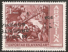 """Argentina Stamp - Scott #724/A294 1p Red Brown """"Export Drive"""" Used/LH 1961"""