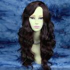 Stunning NEW STYLE Wavy Long Dark Brown Auburn Mix Ladies Wig from WIWIGS UK
