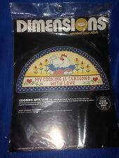 """Dimensions Cross Stitch 1985 """"Cooking with Love"""" NIP"""
