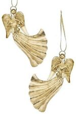 Heart Angel & Dove Christmas Tree Ornament Set of 2