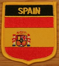 SPAIN Spanish Shield Country Flag Embroidered PATCH Badge P1