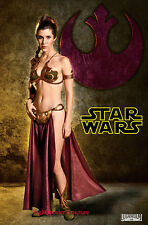 Star Wars 27x40 DS Light Box banner poster CARRIE FISHER LEIA JABBA's SLAVE suit