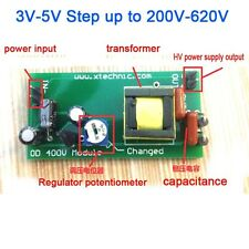 High Voltage DC-DC Boost Converter 3V-5V Step up to 200V-620V Power Regulator
