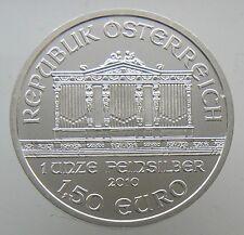 2010 AUSTRIA PHILHARMONIC 1 OZ SILVER ROUND COIN BU 1.5 EURO