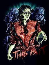 Michael Jackson's This Is It Zombie Final Tour Concert Official Hanes TShirt 2XL