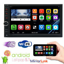"""Quad Core Android 5.1 WIFI 7"""" Double 2DIN Car Radio Stereo GPS SAT Nav Bluetooth"""