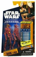 Star Wars Saga Legends SL20 Battle Droid Two-Pack, Red Action Figure New In Box