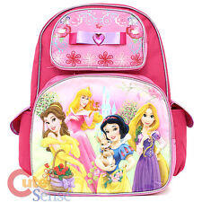 "Disney Princess with Tangled School Backpack 16""  Stone Bow Large Bag"