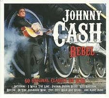 JOHNNY CASH REBEL - 3 CD BOX SET - RING OF FIRE, I WALK THE LINE & MORE