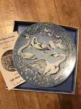 Haviland Limoges The Twelve Days of Christmas Plate Six Geese A' Laying 1975
